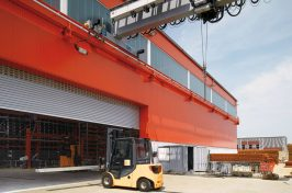roller shutters at warehouse